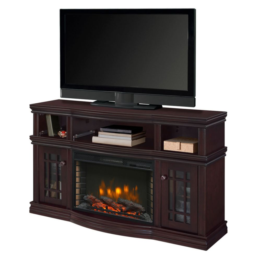 classic media electric fireplace flame console gotham