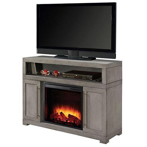 Muskoka Mackenzie 48-inch Media Electric Fireplace in Light Weathered Grey