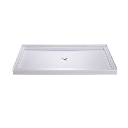 SlimLine 30-inch x 60-inch Single Threshold Shower Base in White