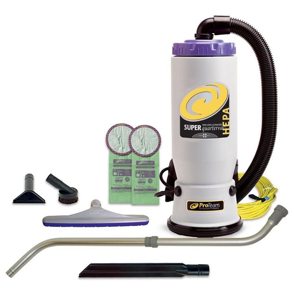 Aspirateur dorsal commercial Super QuarterVac de 5,7 l (6 qt.) HEPA