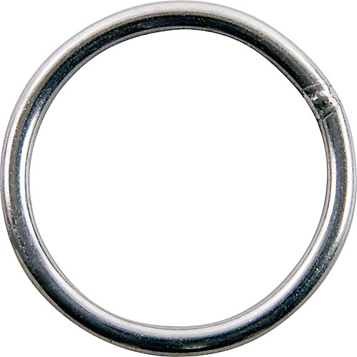 1 inch Nickel-Plated Welded Harness Ring - 4-Piece