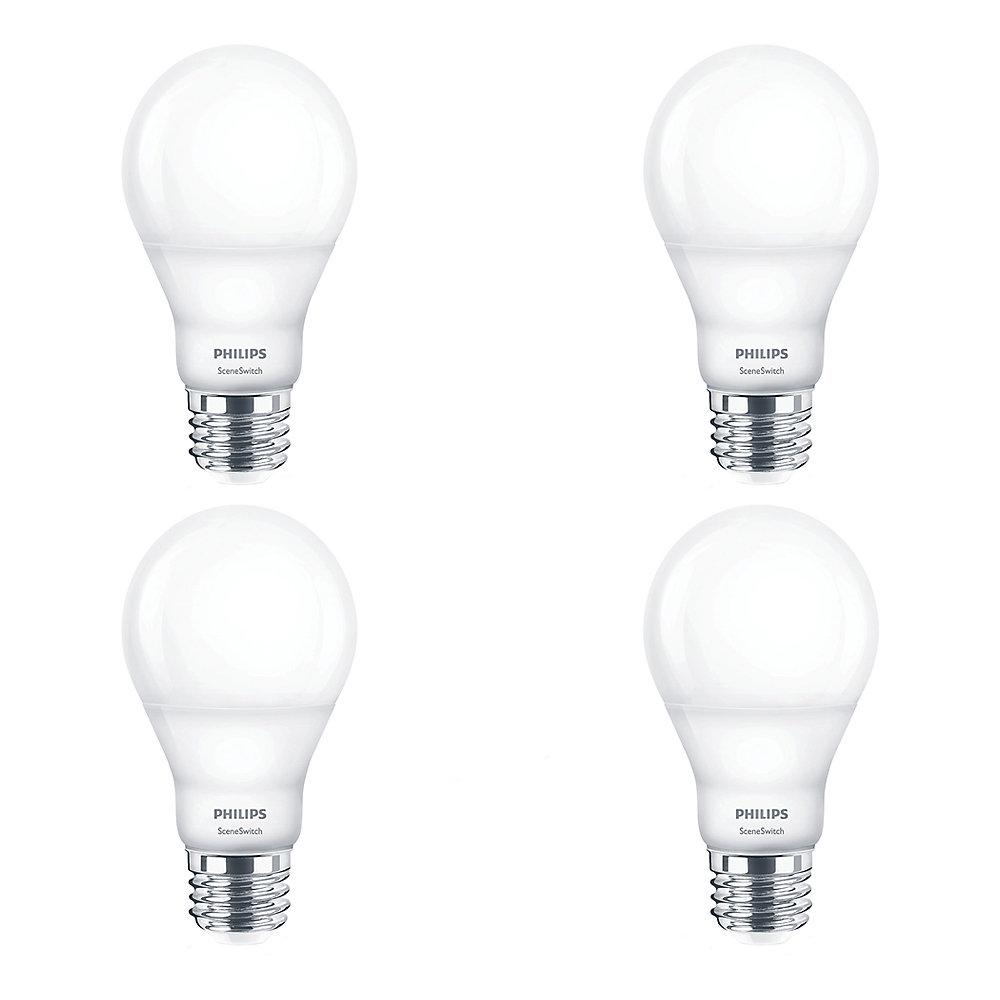 LED 60W A19 SceneSwitch Colour (2200K, 2700K, 5000K) - Case of 4 Bulbs