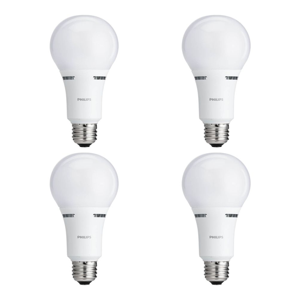 LED 50/100/150W 3Way Soft White (2700K) - Case of 4 Bulbs