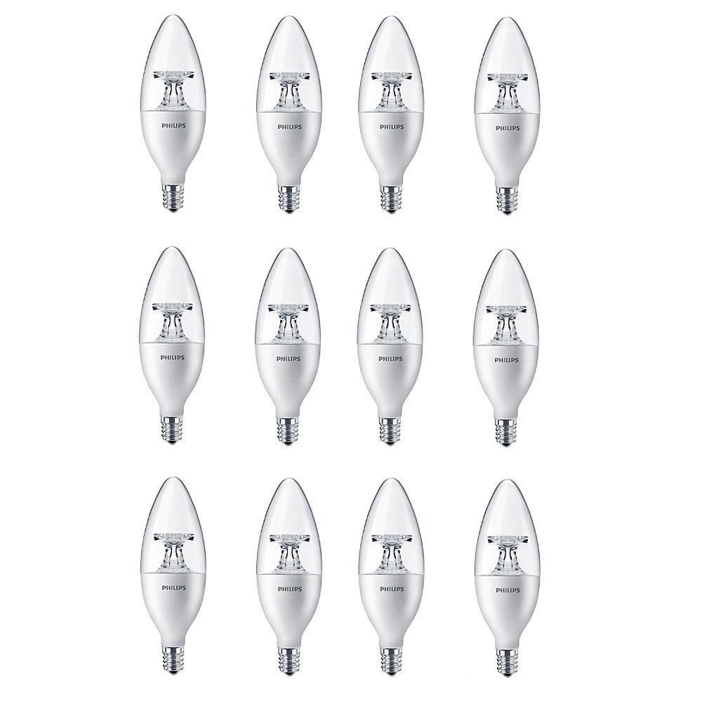 LED 40W Chandelier Candelabra Base Daylight (5000K) - Case of 12 Bulbs - ENERGY STAR®
