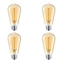 Philips LED 40W ST19 Filament Amber (2000K) - Case of 4 Bulbs