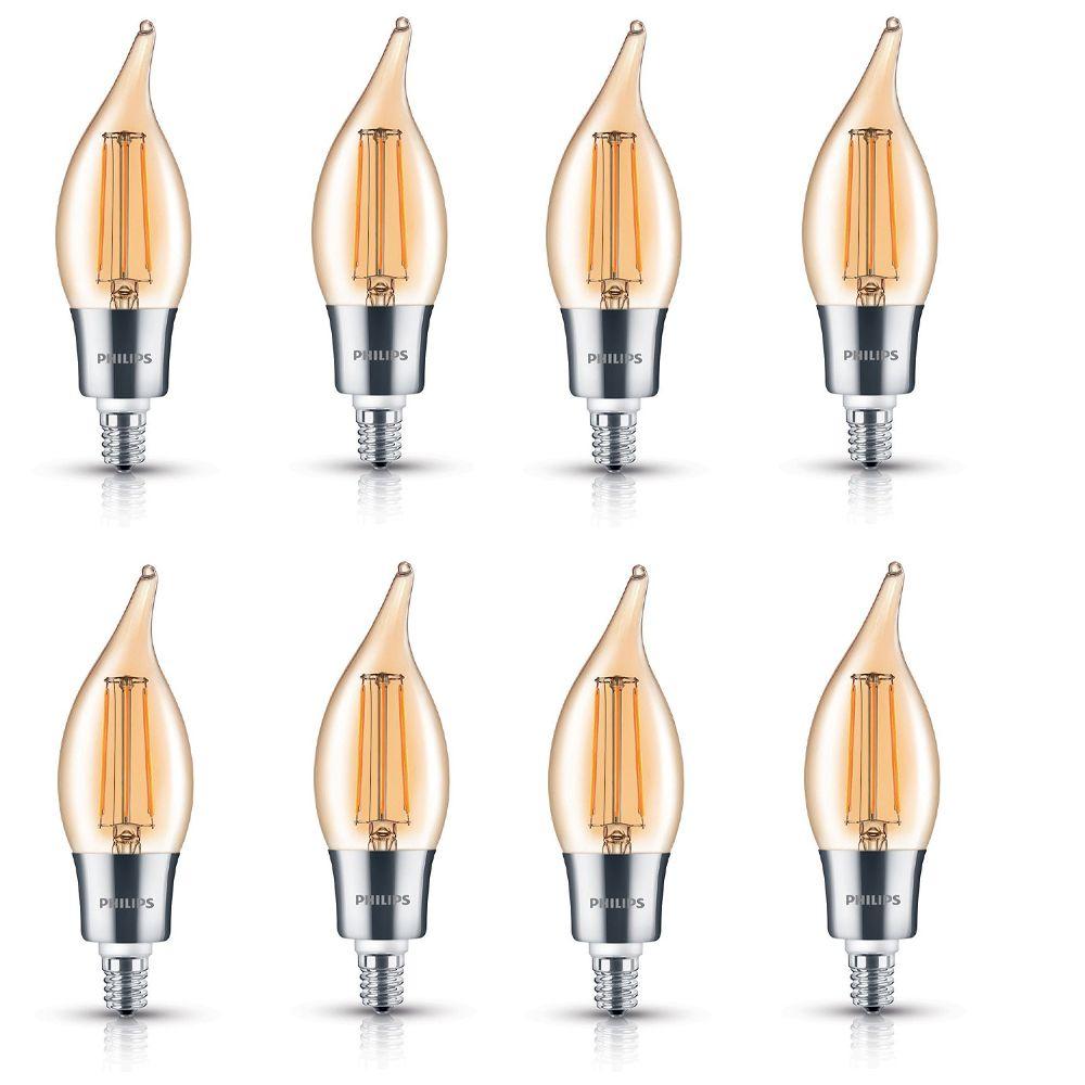 LED 40W Chan BA11 Filament Amber (2000K) - Case of 8 Bulbs