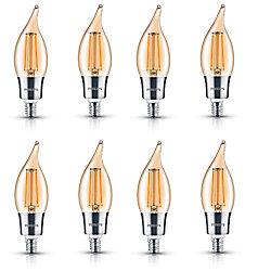 Philips LED 40W Chan BA11 Filament Amber (2000K) - Case of 8 Bulbs