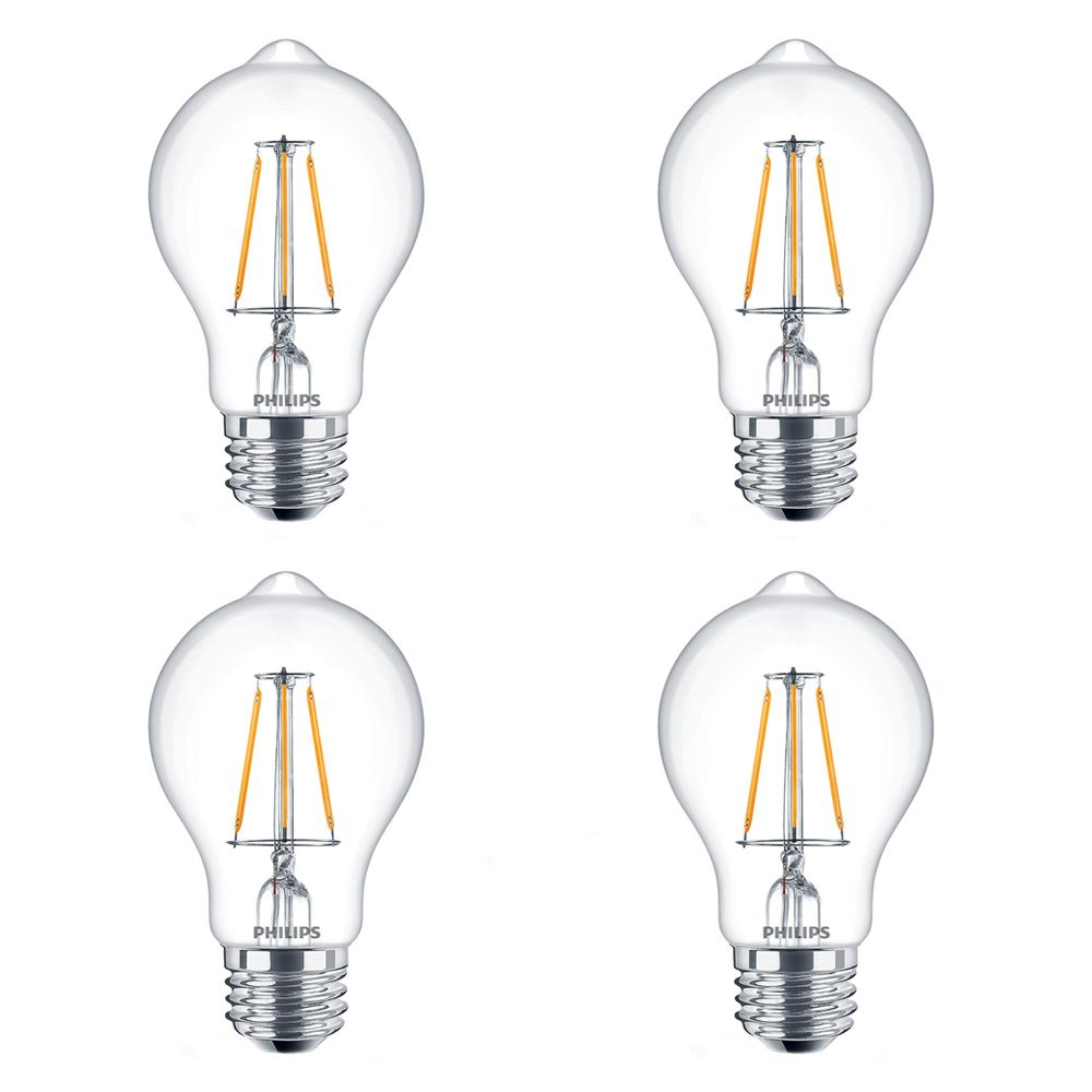 LED 60W A19 Filament Clear (2200K) - Case of 4 Bulbs