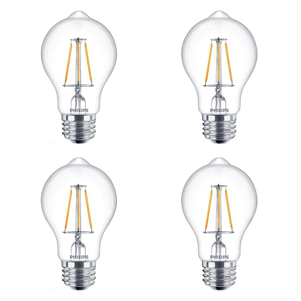 LED 60W A19 Filament Clear (2200K) - Case of 4 Bulbs