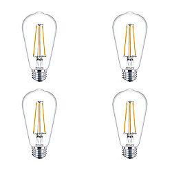 Philips LED 40W ST19 Filament Clear (2200K) - Case of 4 Bulbs