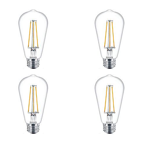 LED 40W ST19 Filament Clear (2200K) - Case of 4 Bulbs