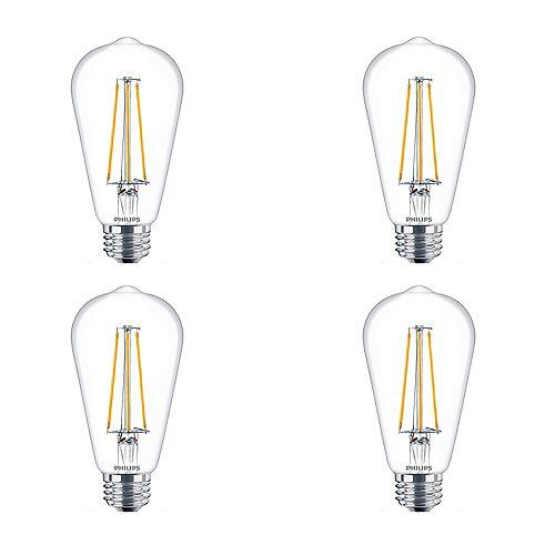 Philips 5W=40W Amber light ST19 LED Filament Light Bulb (4-pack)
