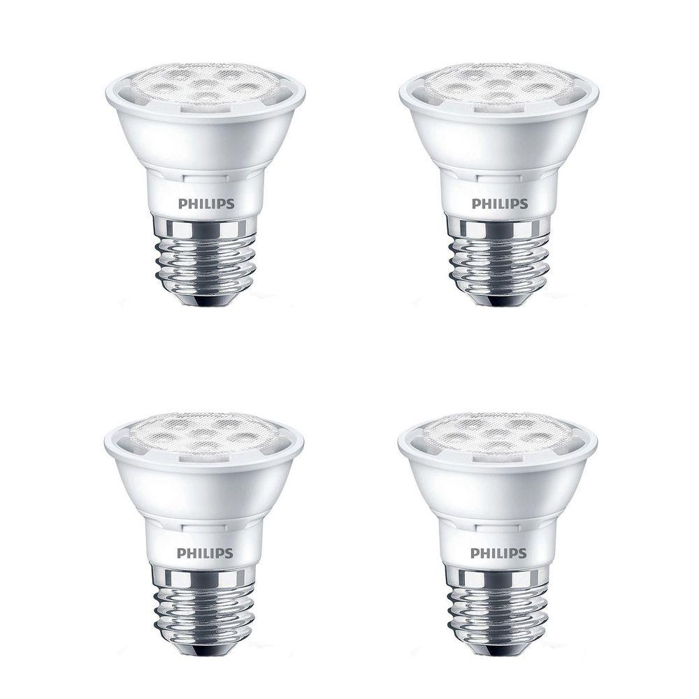 PAR16 DEL faisceau large dintérieur 50 W. Lumière du jour -(5 000 K), Gradable - Cas de 4 Ampoule...