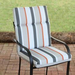 Hampton Bay High Back Patio Cushion in Funk Stripe Multi-Colour