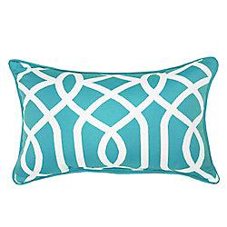 Hampton Bay Outdoor Lumbar Pillow with Coleman Geometric