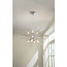 Altino 7-Light Pendant Light Fixture in Chrome
