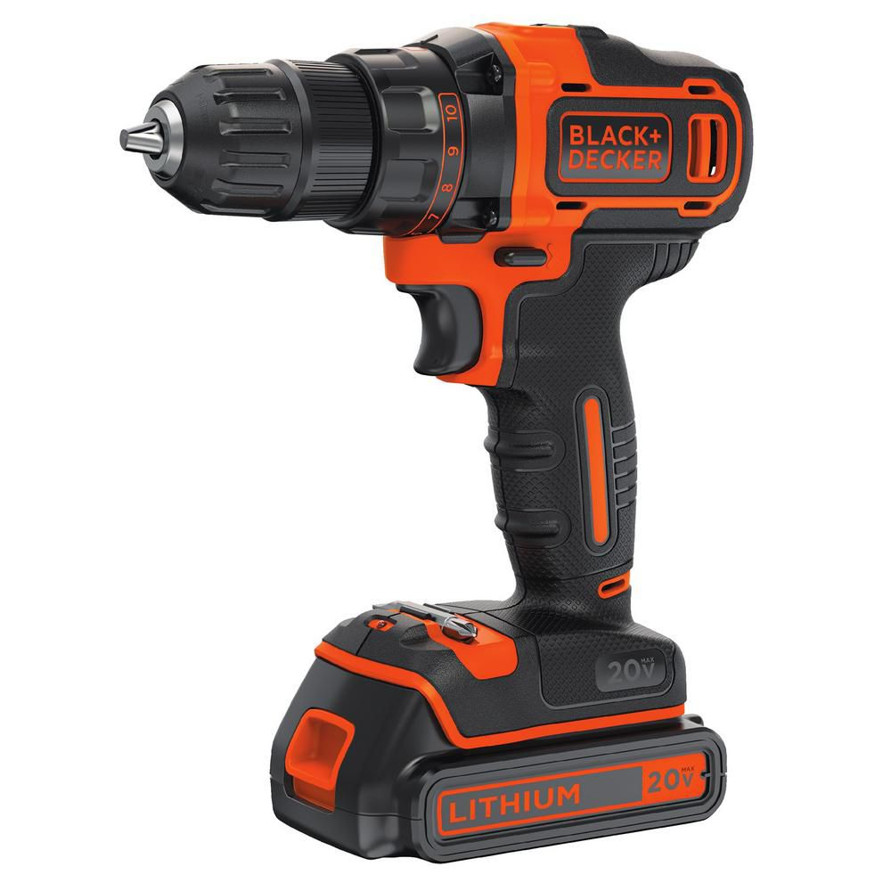 BLACK?? BDCDD220C 20V MAX* Lithium 2-Speed Drill/Driver