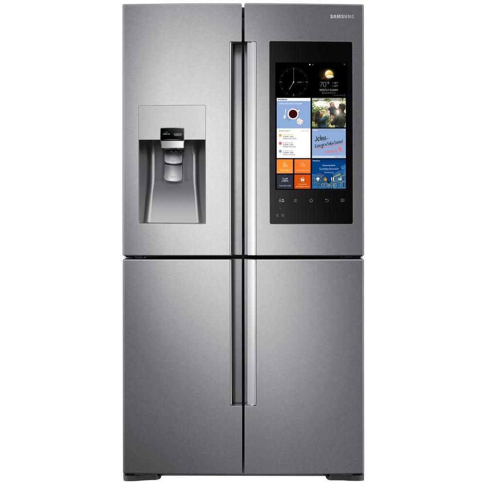 28 Cu.Feet 4 Door French Door Refrigerator with Family Hub Display - RF28K9580SR