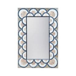 Titan Lighting Miroir Art Déco coquille de capiz et verre