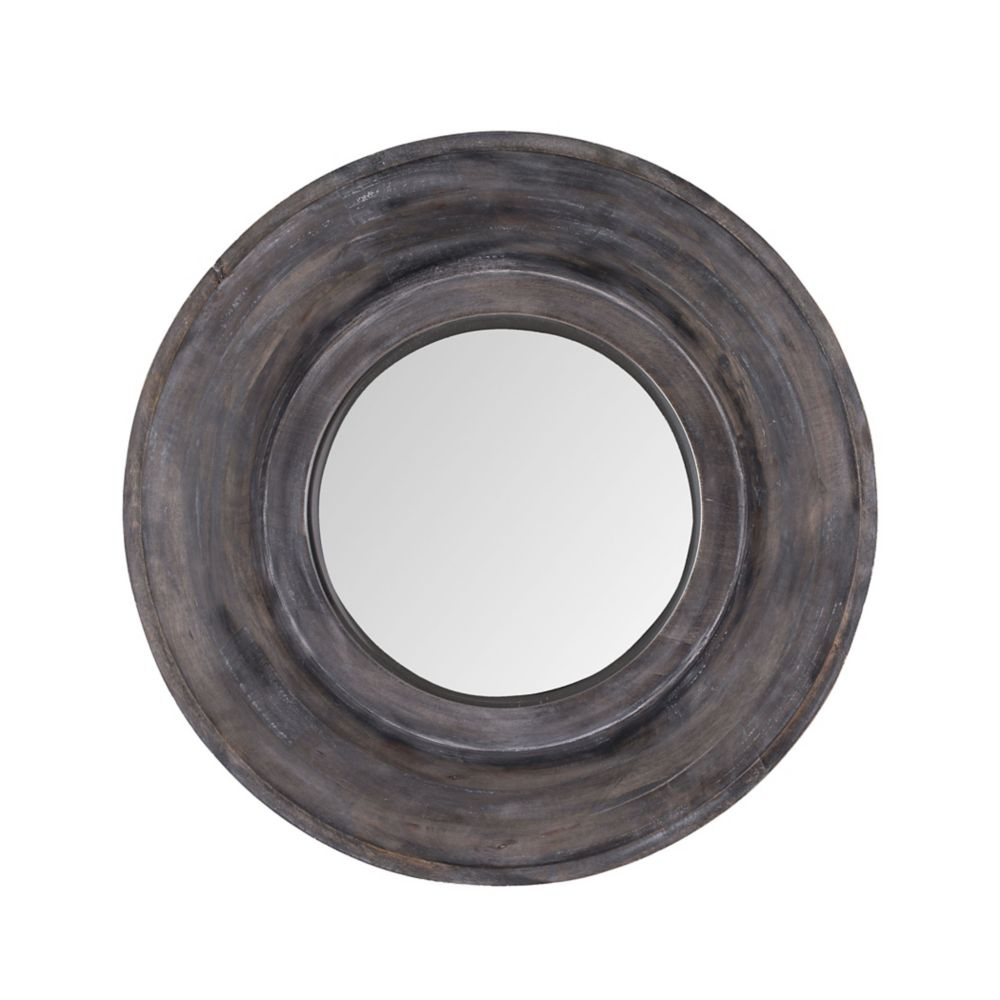 Dark Grey Stain Porthole Mirror