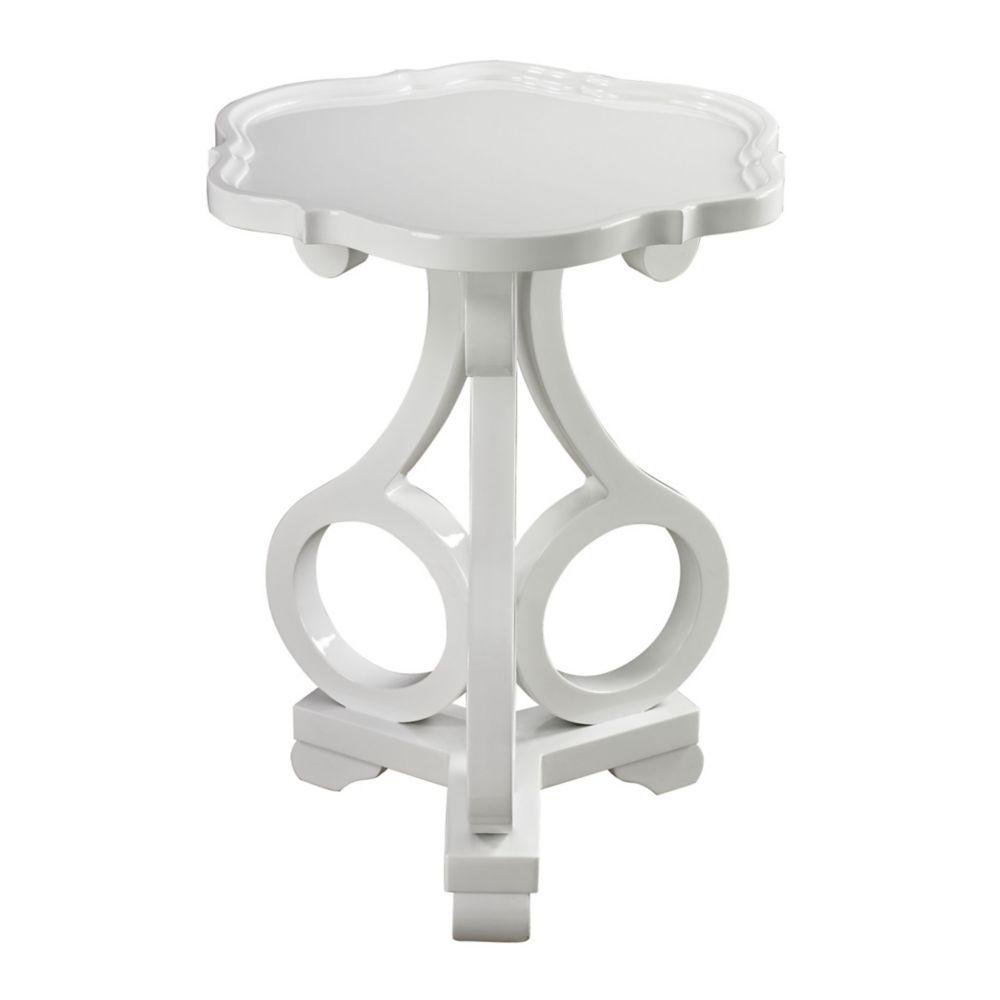 Table d'appoint Knockeen blanc lustré