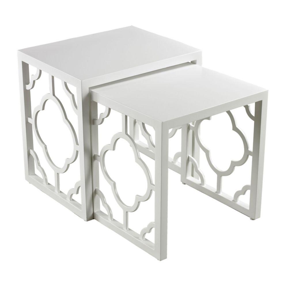Gloss White Nesting Table