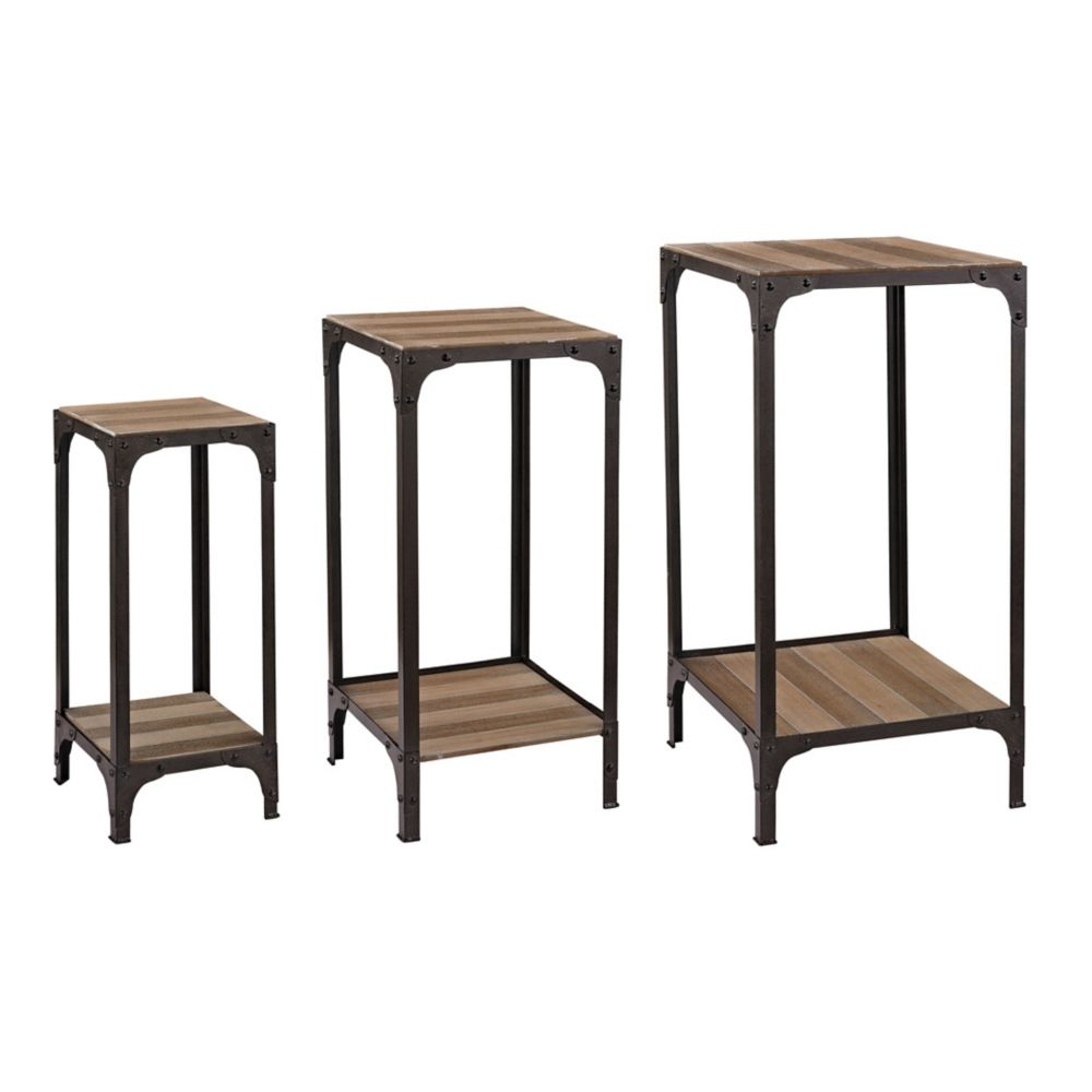Set Of  Plant Stands With Bottom Shelf