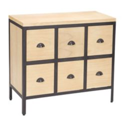 Titan Lighting Chest 6 Drawers With Iron Frames