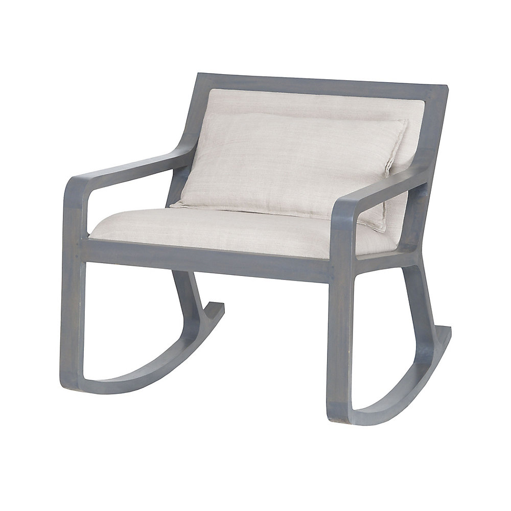 Braden Occasional Linen Accent Chair in Grey with Solid Pattern