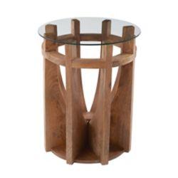 Titan Lighting Wooden Sundial Side Table
