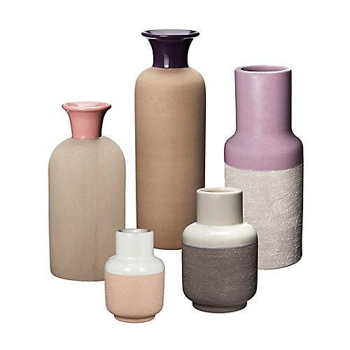 Ensemble de cinq (5) vase pour sable Hakura