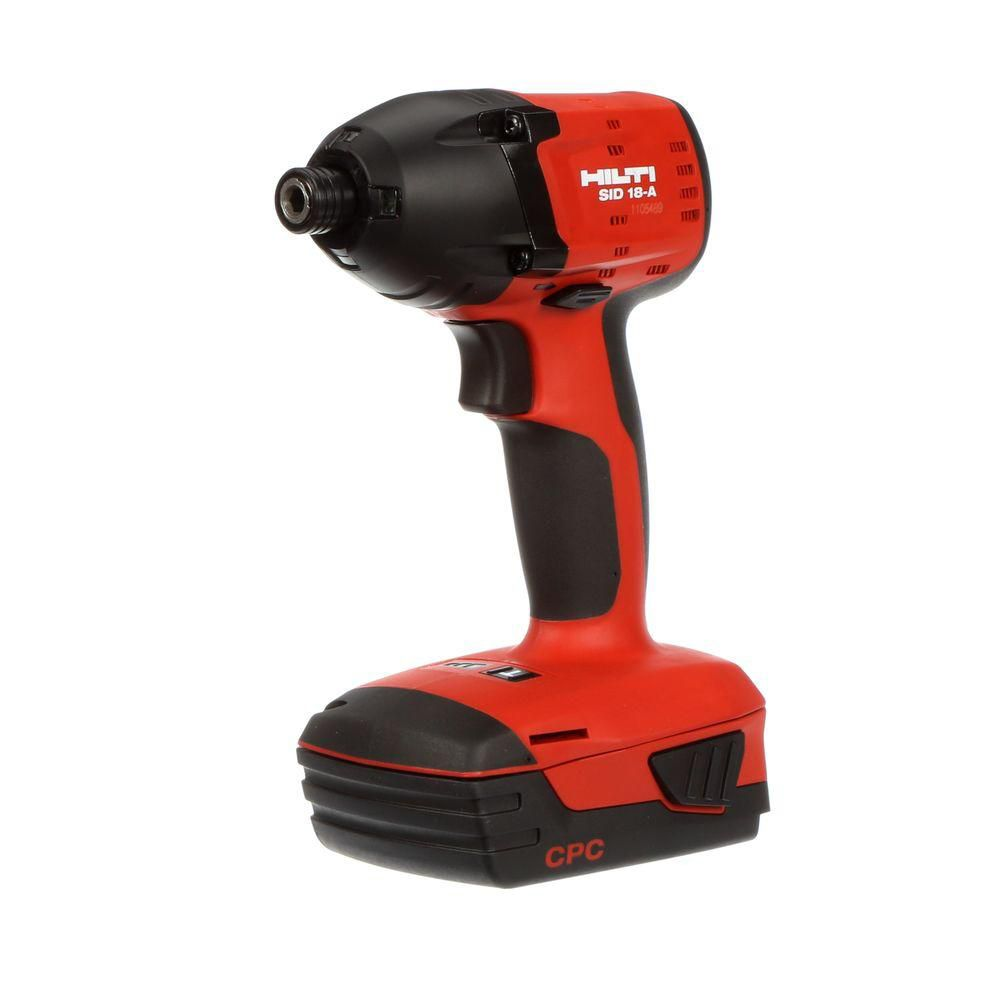 SID 18-Volt Lithium-Ion 1/4 Inch Hex Cordless Compact Impact Driver