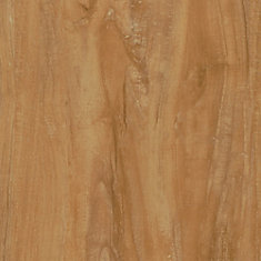 Plancher en planches de vinyle de luxe de 7,5 po x 47,6 po (19,8 pi2 / caisse) en chêne vieilli verrouillable naturel