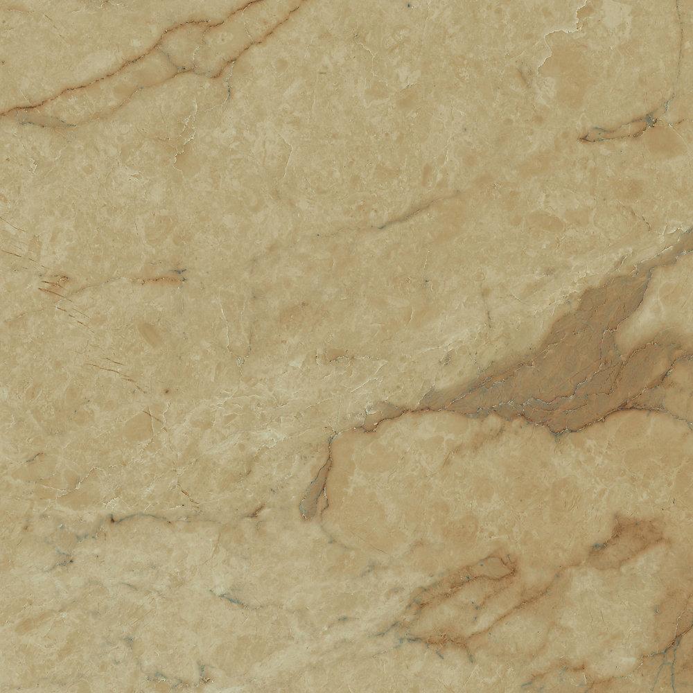 Verrouillage Carrara Tan 12 po x 23,82 po Plancher de tuiles de vinyle de luxe (19,8 pi2 / caisse)
