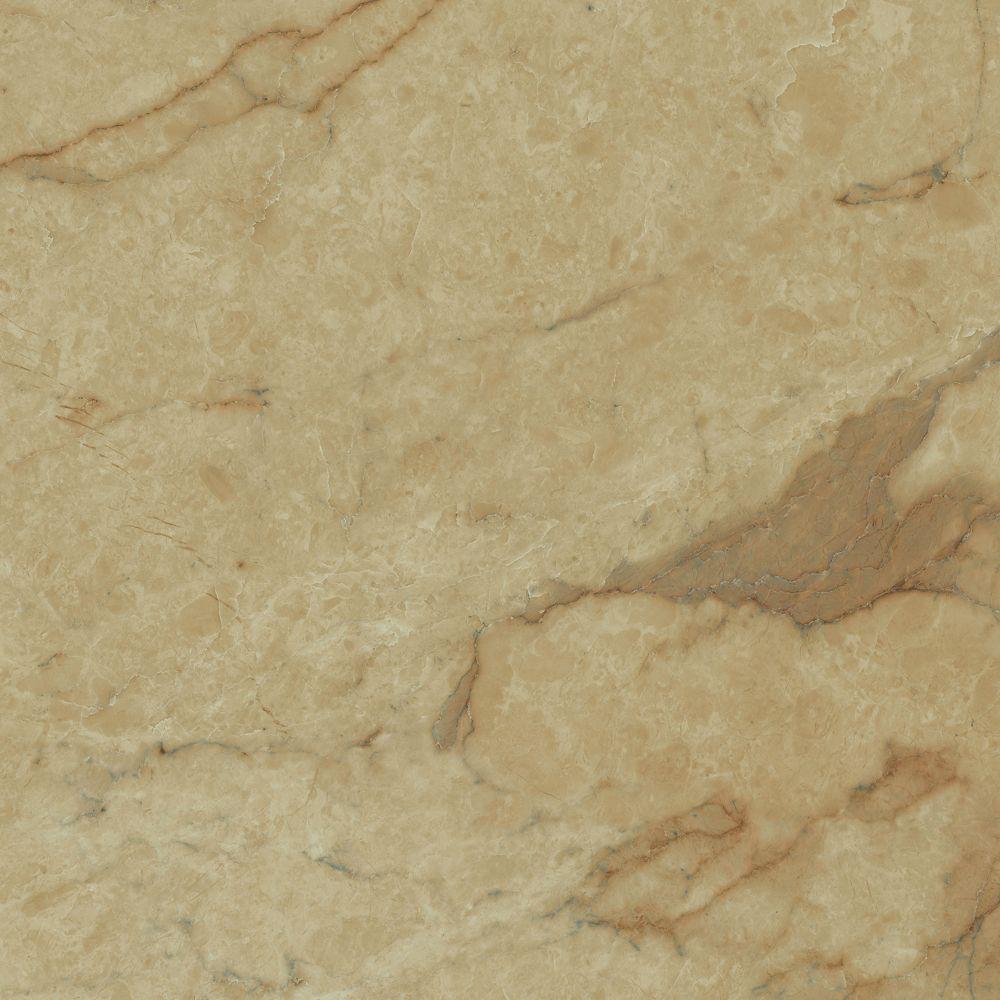 12-inch x 23.82-inch Luxury Vinyl Tile Flooring in Carrara Tan (19.8 sq. ft./case)