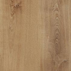 Plancher de vinyle de luxe en planches de chêne doré verrouillable de 8,7 po x 47,6 po (20,06 pi2 / caisse)