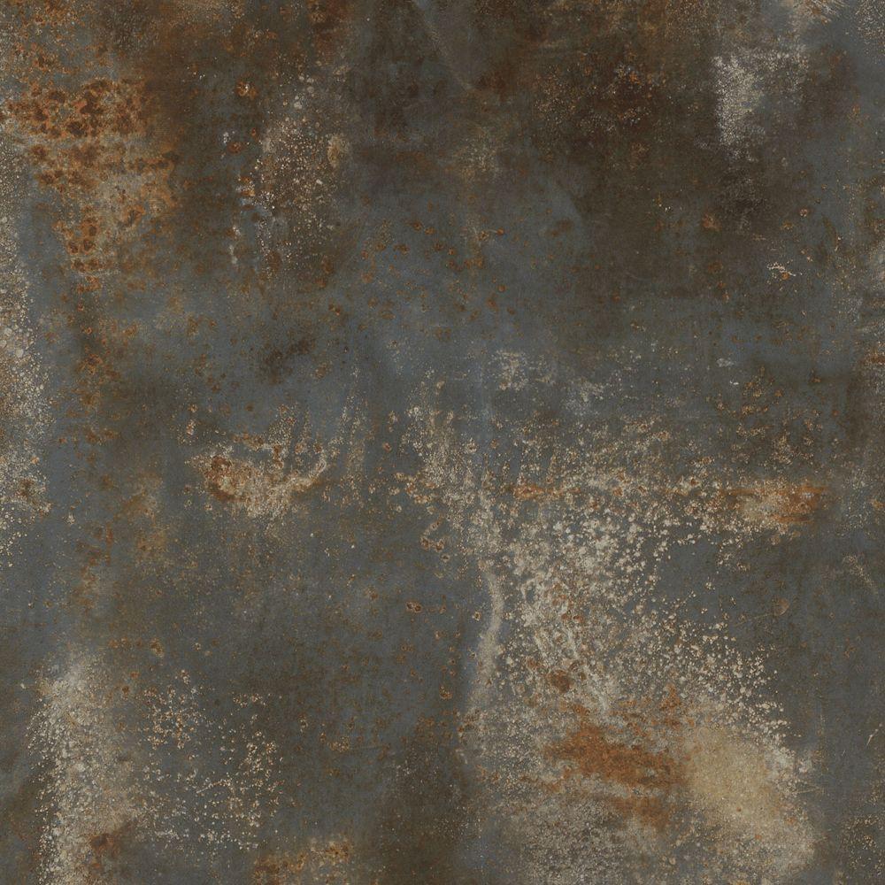 Planche large de vinyle rouillé aube de pierre 8,7 po (22 cm) x 47,6 po (1,2 m) (20,06 pc/boîte)