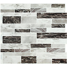 Dark Sky Marble Peel and Stick It 11.25X10 8 pack