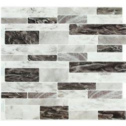 Stick-It Tiles Dark Sky Marble Peel and Stick It 11.25X10 (8-Pack)