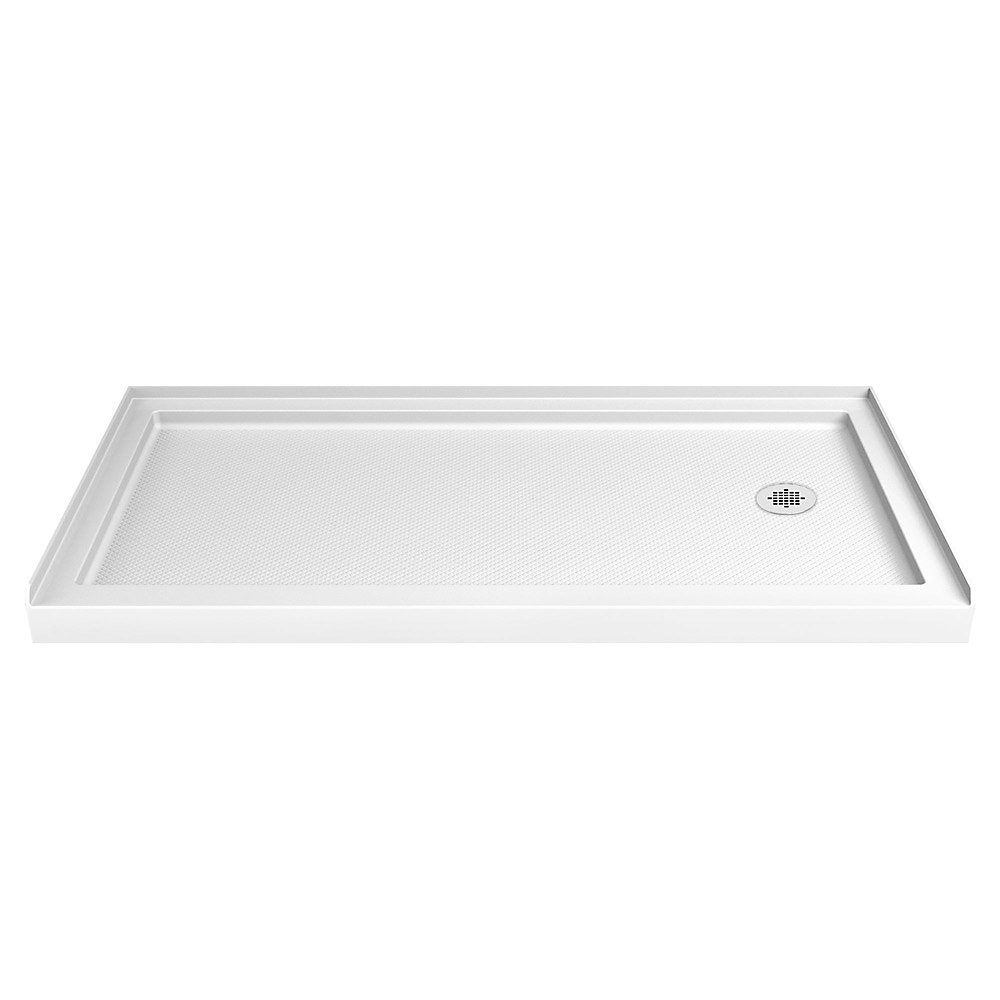SlimLine 34-inch x 60-inch Single Threshold Shower Base in White
