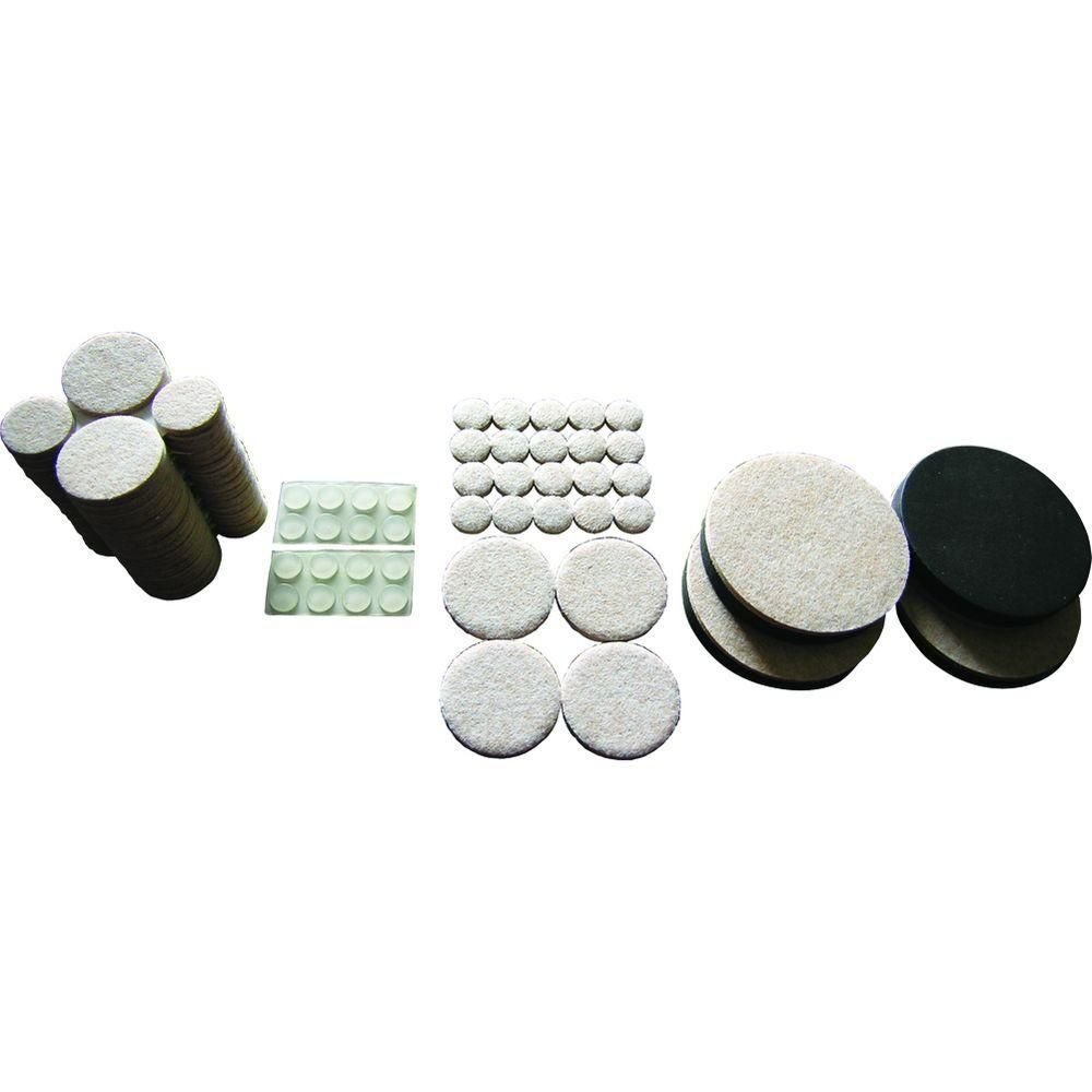 Everbilt Assorted Felt Pads, Felt Sliders and Bumpers Value Pack (108-Piece)