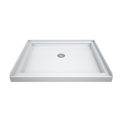 SlimLine 36-inch x 36-inch Single Threshold Shower Base in White