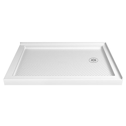 SlimLine 36-inch x 48-inch Double Threshold Shower Base in White