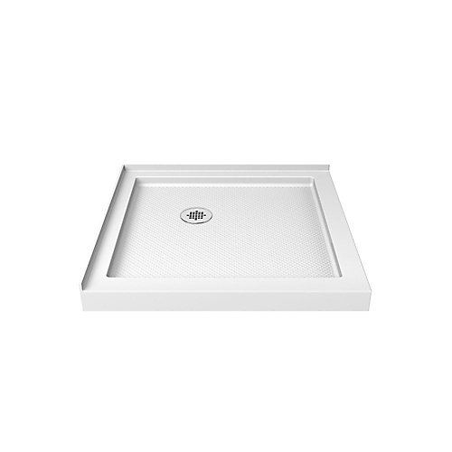 SlimLine 36-inch x 36-inch Double Threshold Shower Base in White