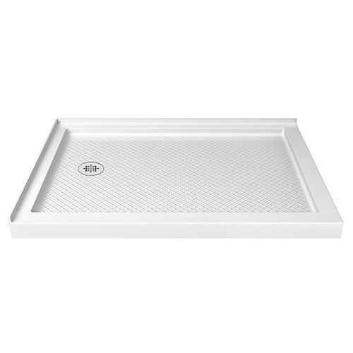 SlimLine 36-inch x 60-inch Double Threshold Shower Base in White