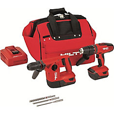18-Volt Lithium-Ion Cordless Rotary Hammer Drill/Hammer Drill Driver Combo Kit (2-Tool)