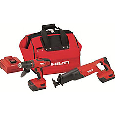 18-Volt Lithium-Ion Cordless Hammer Drill Driver/Reciprocating Saw Combo Kit (2-Tool)