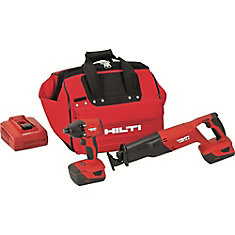 18-Volt Lithium-Ion Cordless Impact Driver/Reciprocating Saw Combo Kit (2-Tool)