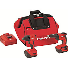 18-Volt Lithium-Ion Cordless Impact Driver/High Speed Drywall Screwdriver Combo Kit (2-Tool)