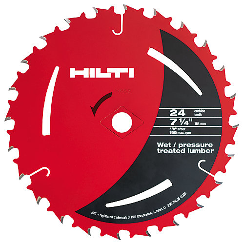 7-1/4 Inch x 24 Tooth Pressure Treated and Wet Lumber Circular Saw Blades (50-Pack)